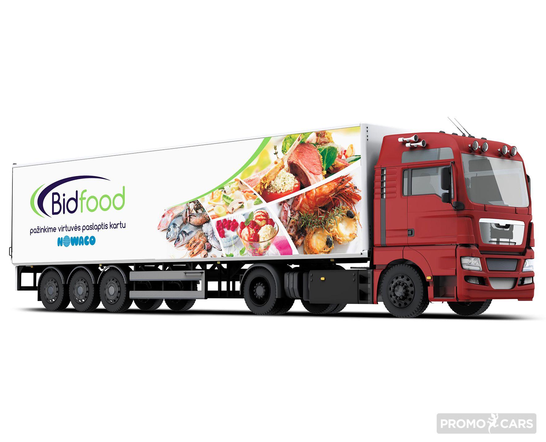 sunkvežimių apklijavimas