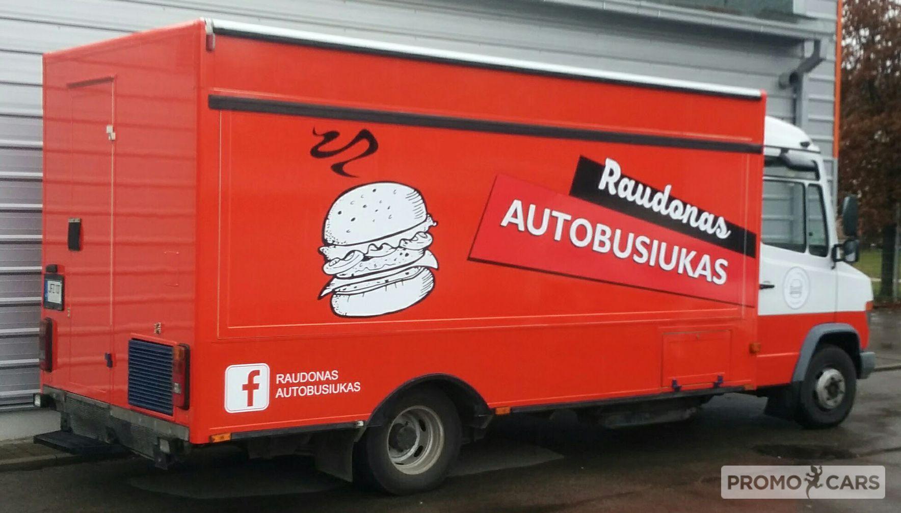 Food truck apklijavimas plėvele