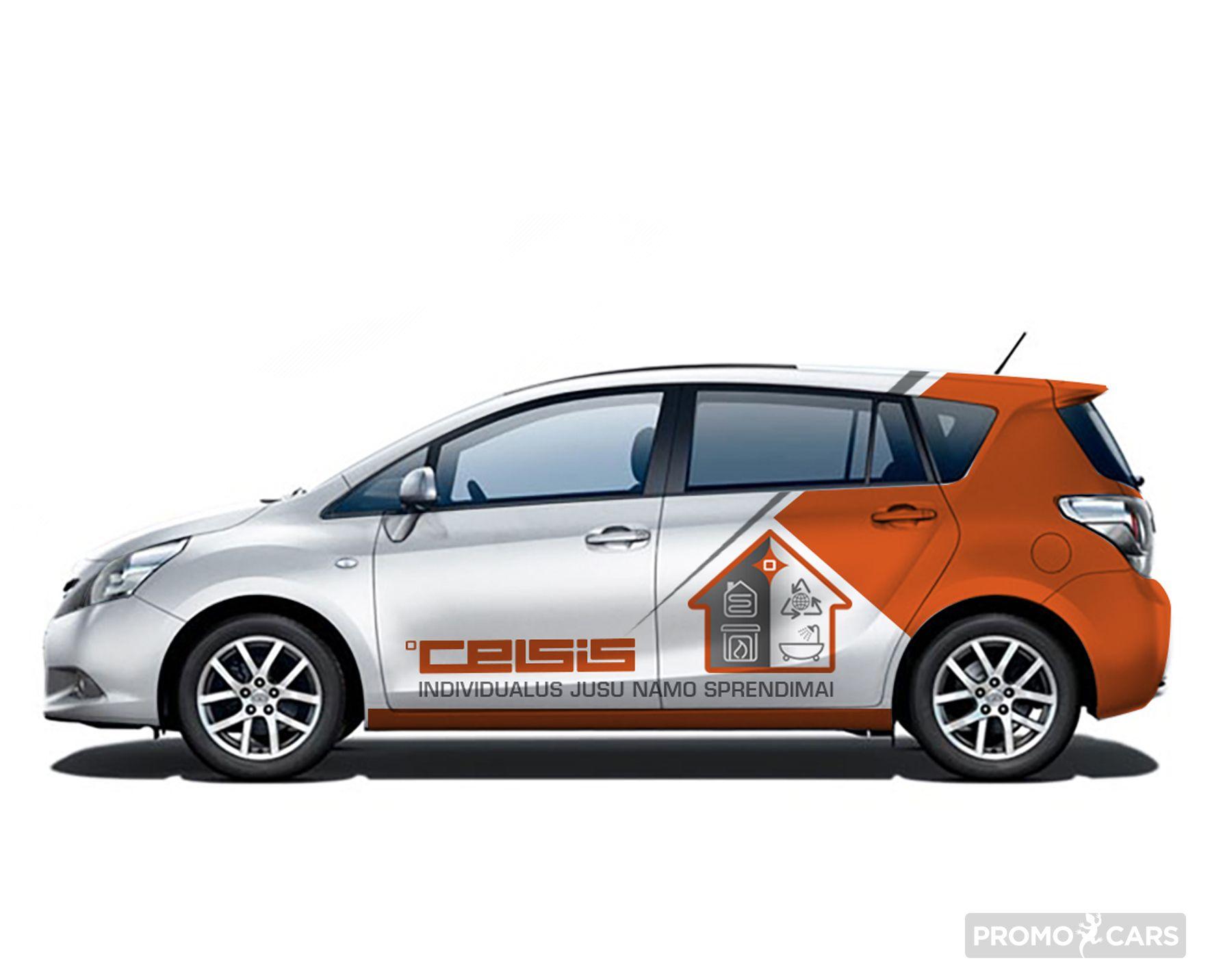 automobilio apklijavimo reklama projektas