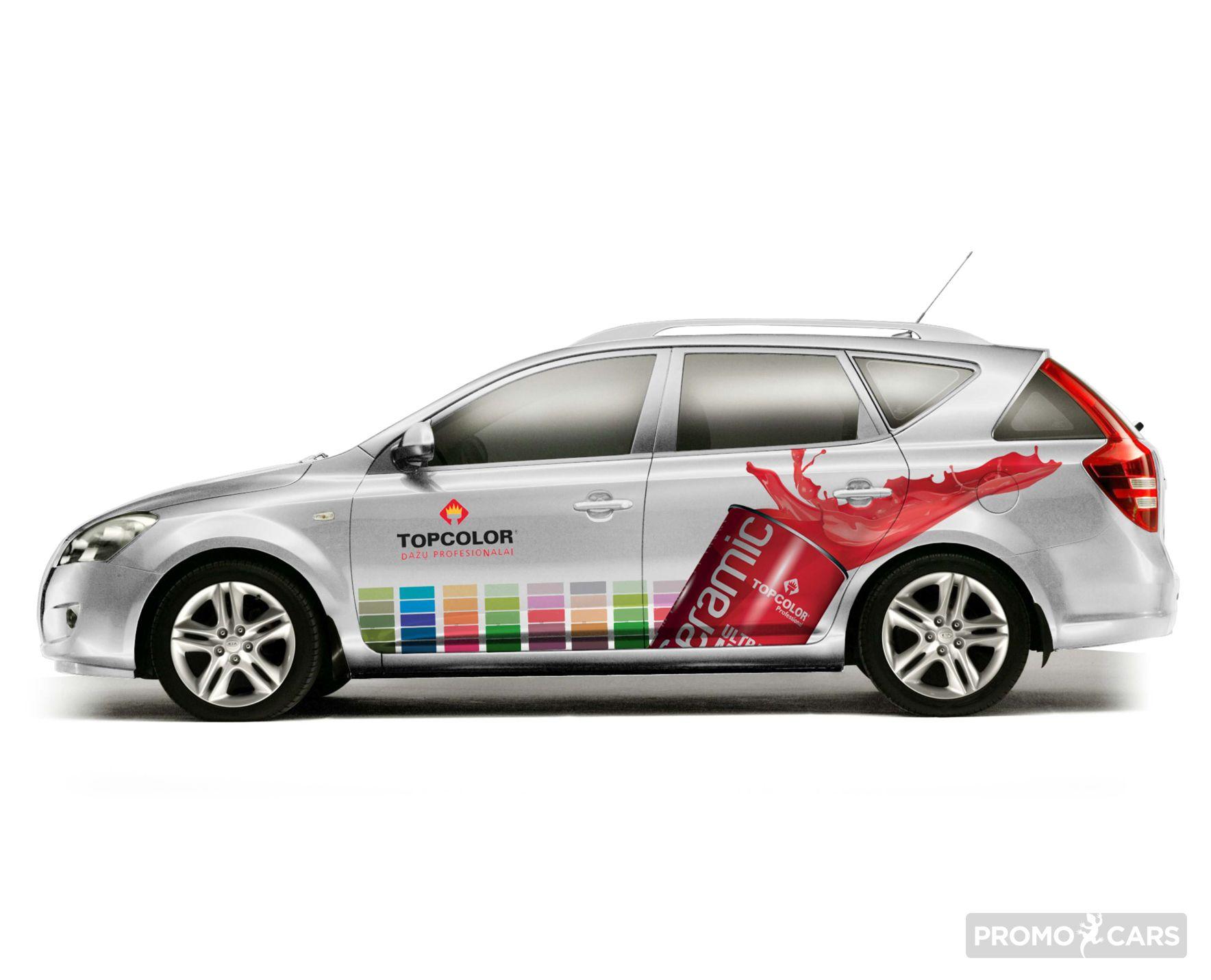 autoapklijavimo dizainas reklama