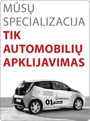 automobilių apklijavimo specialistai