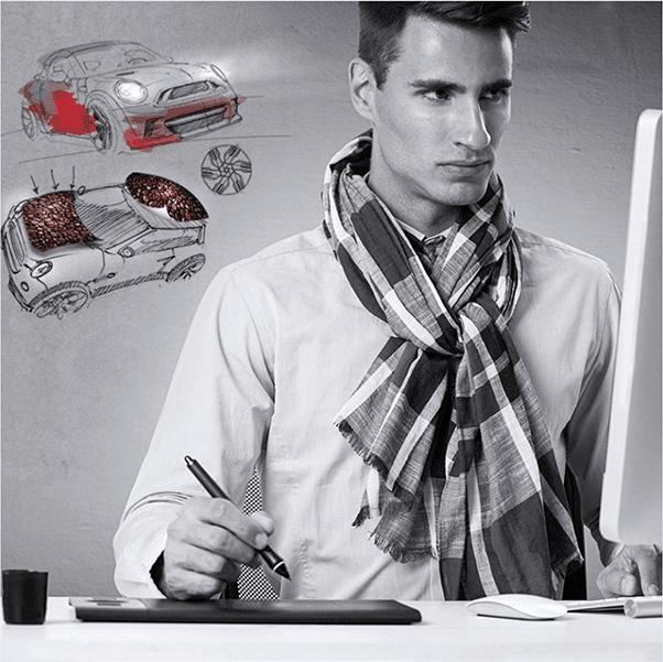 reklamos ant auto projektavimas dizainas